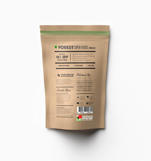 Australian Hemp Protein Back of Packaging